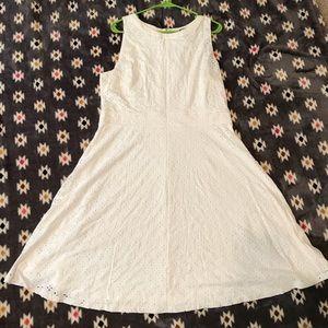 NWT LOFT White Eyelet Dress